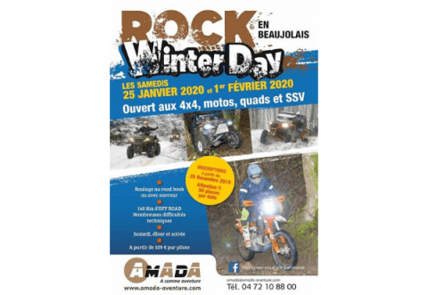 Rock Winter Day 2020 - Amada Aventure, hotel LE MONT BROUILLY ouvert exceptionnellement, MOTO, QUAD, 4X4, SSV etc.....